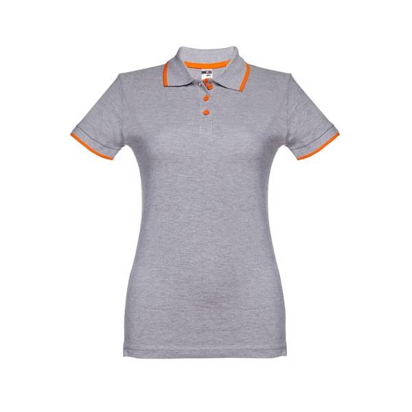 ROME WOMEN. Γυναικεία πόλο μπλούζα slimfit - Ανοιχτό Γκρι Heather / XL