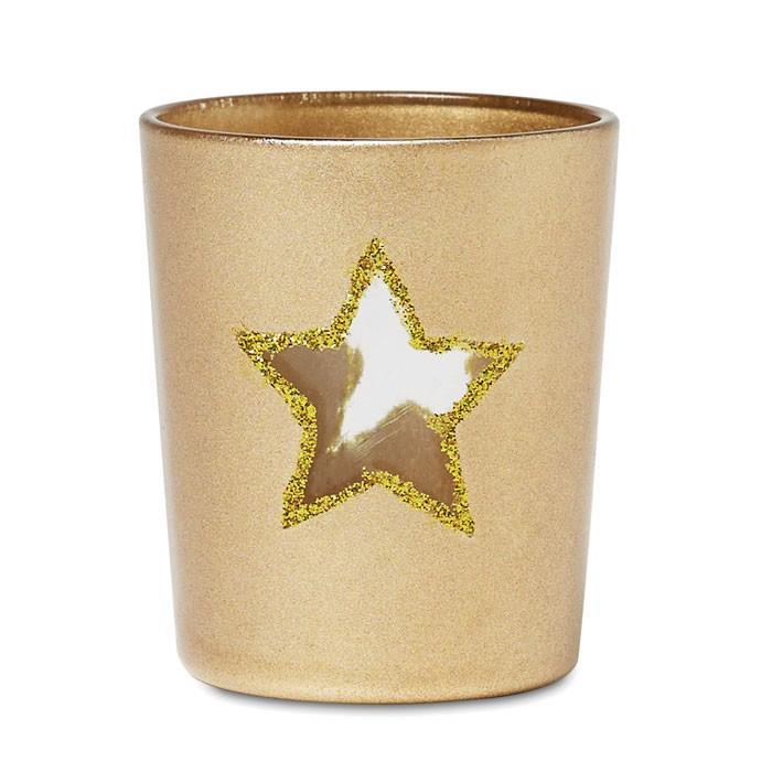 Stojan na čajovou svíčku Shinny Star - champagne