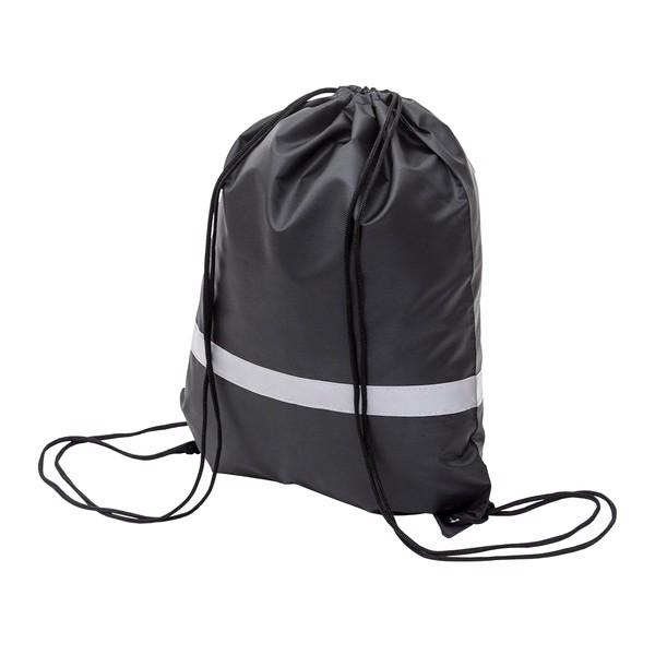 Plecak promocyjny z taśmą odblaskową - Czarny