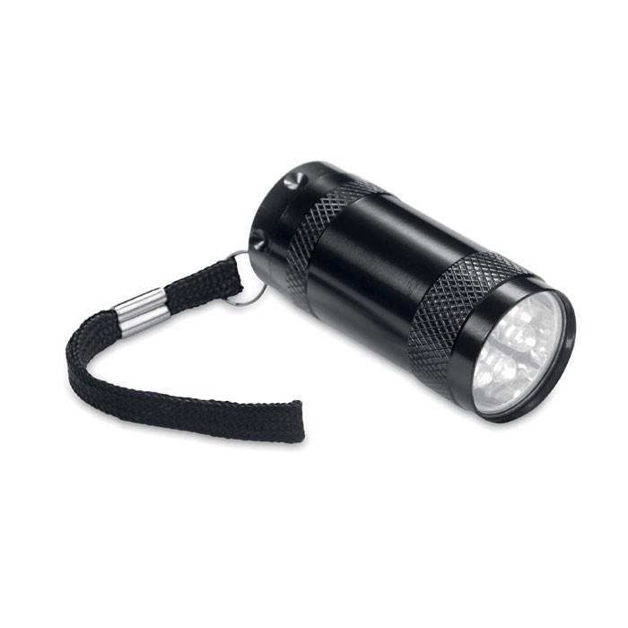 Aluminiowa mini latarka Texas - czarny
