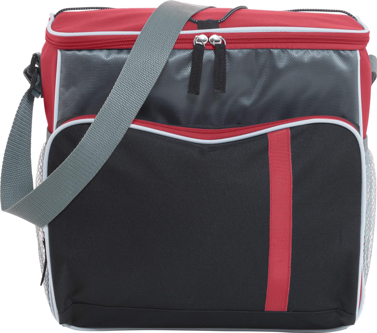 Polyester (600D) cooler bag - Red