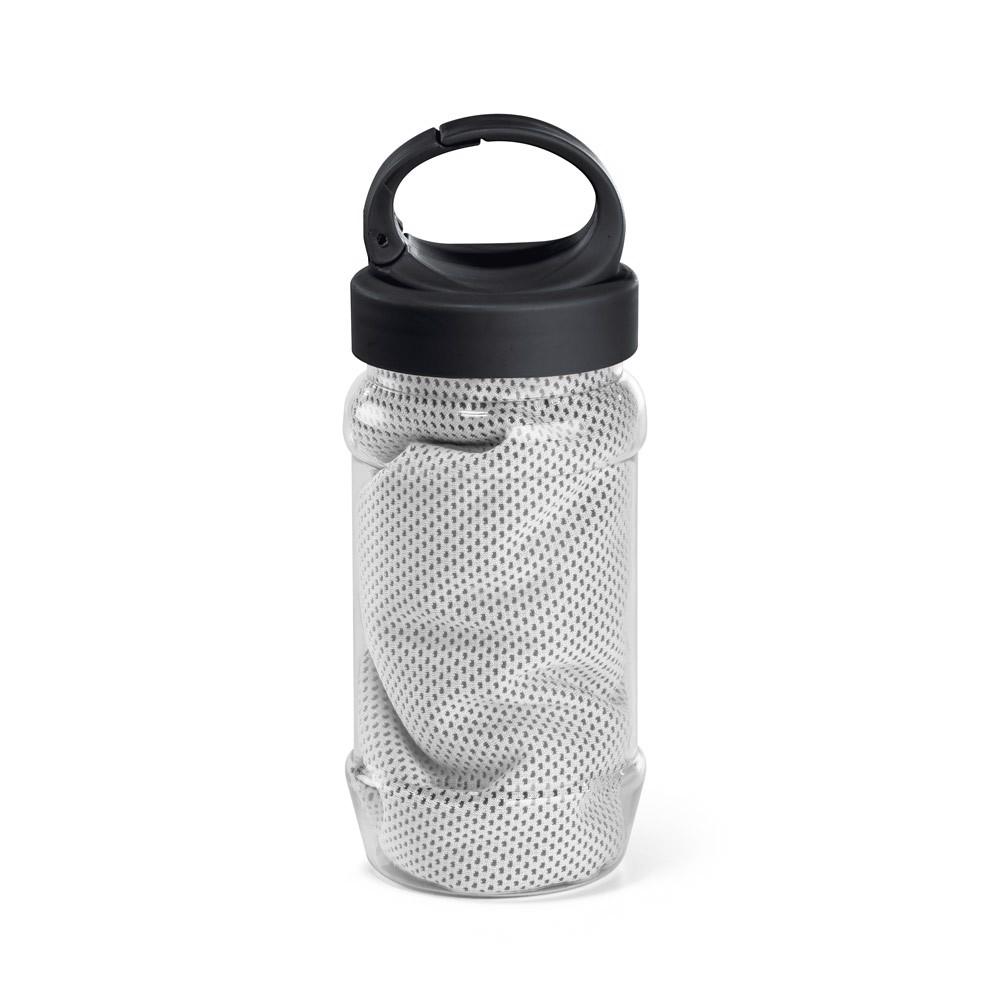 ARTX PLUS. Sportovní ručník s obalem ve tvaru láhve - Bílá