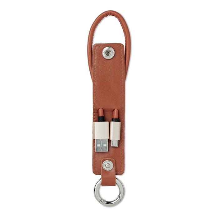 Schlüsselring mit Kabel-Set Liso - braun