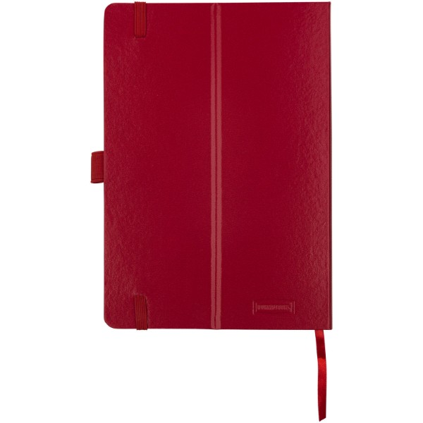 Kancelářský zápisník A5 s měkkou zadní obálkou Flex - Červená s efektem námrazy