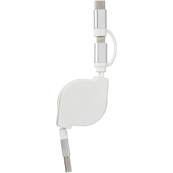 Triple 3-in-1 charging cable - White
