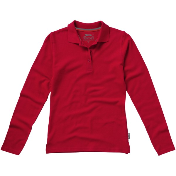 Point langärmliges Poloshirt für Damen - Rot / S