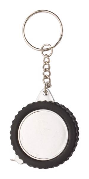 Přívěšek Na Klíče S Metrem Wheel - Černá