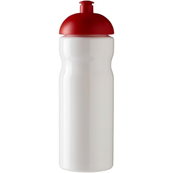 Sportovní láhev s kupolovitým víčkem H2O Base® 650 ml - Bílá / Červená s efektem námrazy