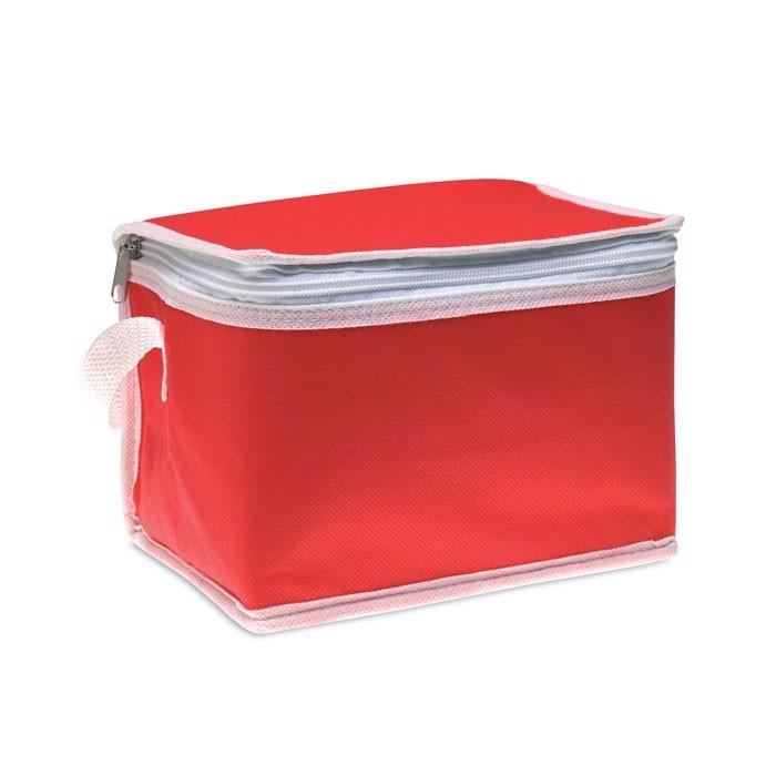 Torba chłodząca na 6 puszek Promocool - czerwony