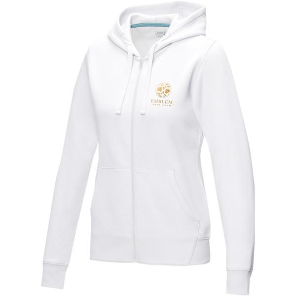 Ruby women's GOTS organic GRS recycled full zip hoodie - White / M