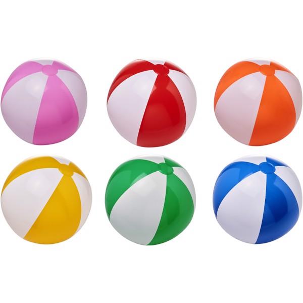 Bora neprůhledný plážový míč - 0ranžová / Bílá