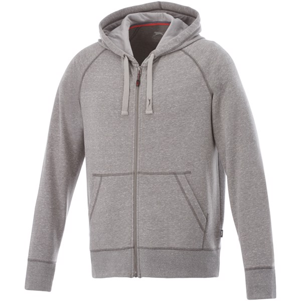Groundie full zip hoodie - Grey Melange / XL