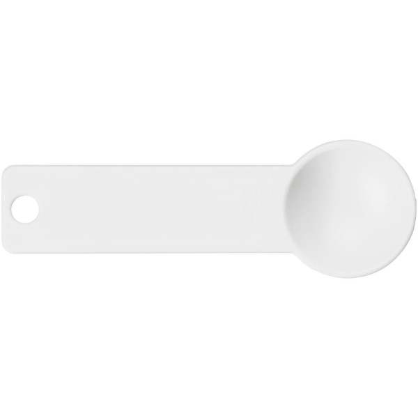 Ness plastic measuring spoon set with 4 sizes - White