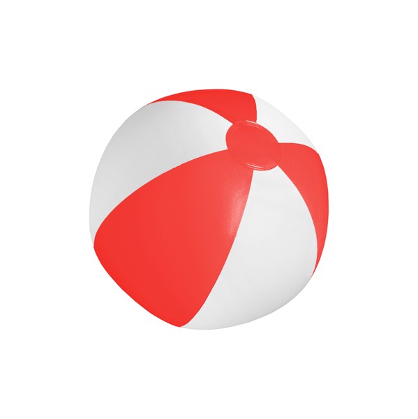 Beach Ball (Ø28 Cm) Playo - White / Red