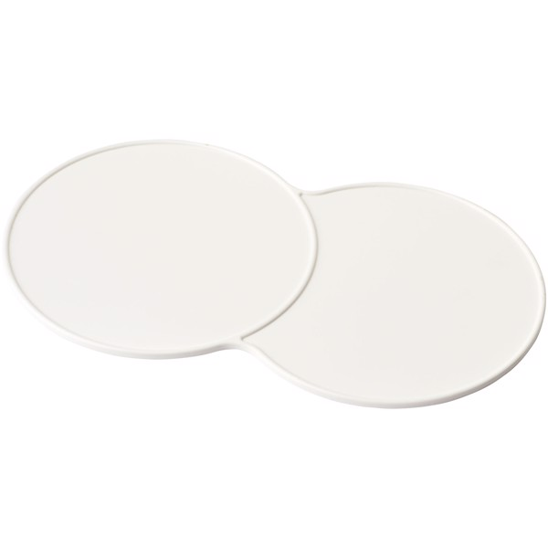 Sidekick plastic coaster - White