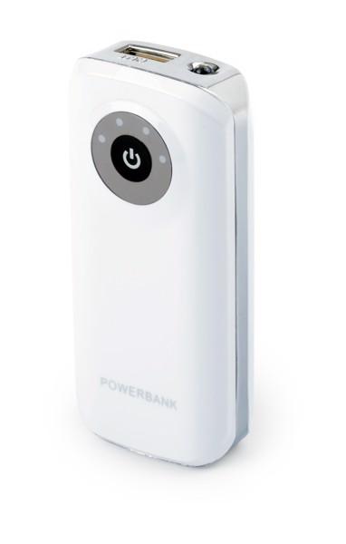 USB polnilna baterija Harubax - bela/srebrna