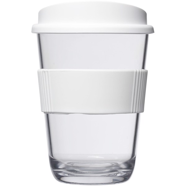 """Americano® Vaso de 300ml con asa """"Cortado"""" - Blanco"""
