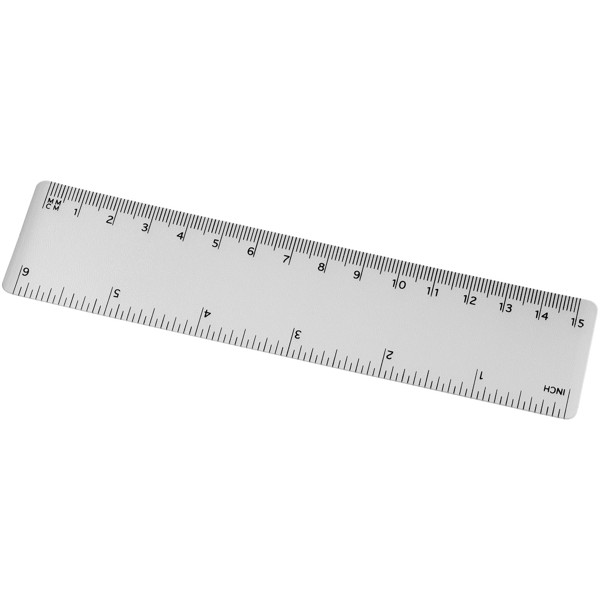 Rothko 15 cm plastic ruler - Transparent