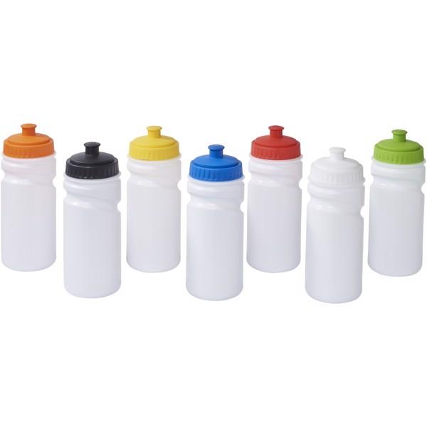 Easy-squeezy 500 ml white sport bottle - White / Red
