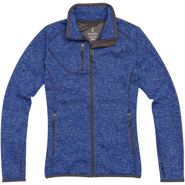 Tremblant women's knit jacket - Heather blue / L