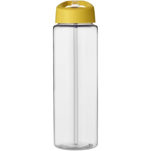 H2O Vibe 850 ml sportovní lahev s víčkem s hubičkou - Průhledná / Žlutá