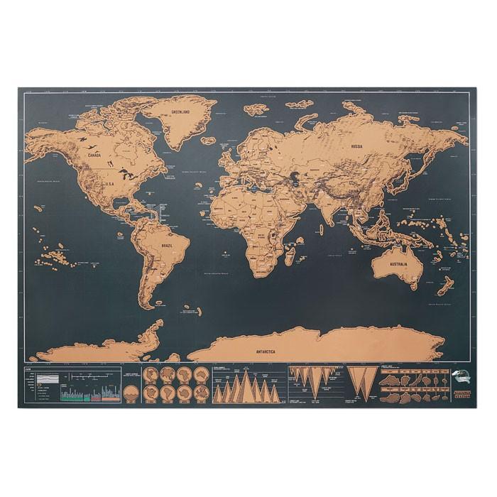 Praskanka zemljevid Been There 42x30 cm
