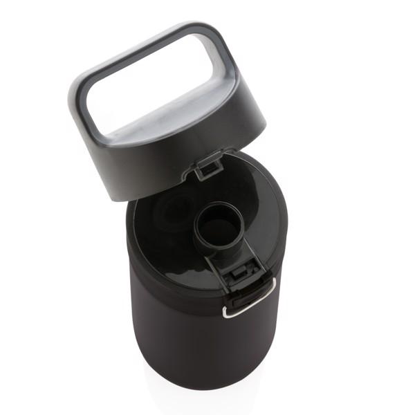 Hydrate szivárgásmentesen zárható vákuum palack - Fekete / Szürke