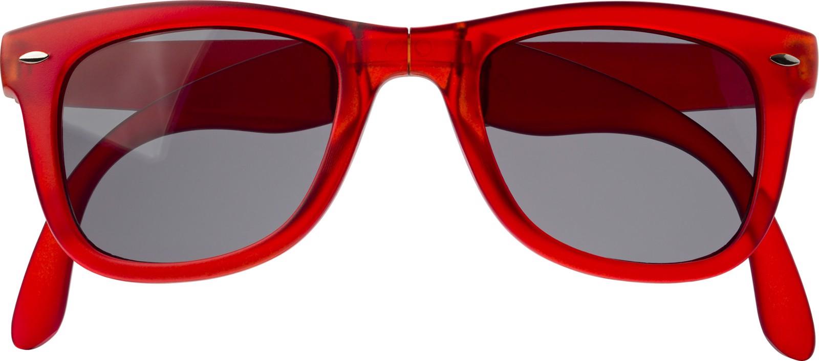 Foldable sunglasses.