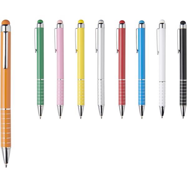 Hliníkové kuličkové pero Glaze - 0ranžová
