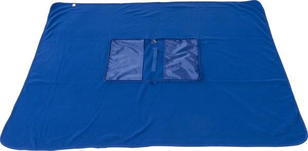 Fleece (180 gr/m²) blanket - Blue