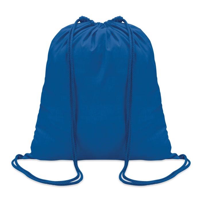 100gr/m² cotton drawstring bag Colored - Royal Blue