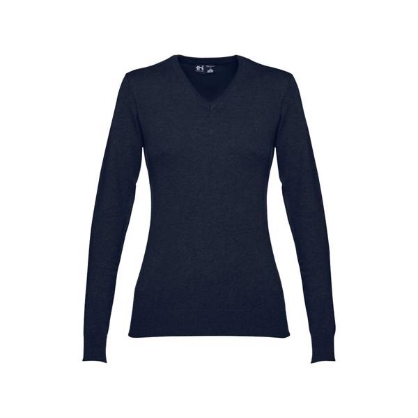 """THC MILAN WOMEN. Jersey con cuello en """"V"""" para mujer - Azul Marino / XXL"""