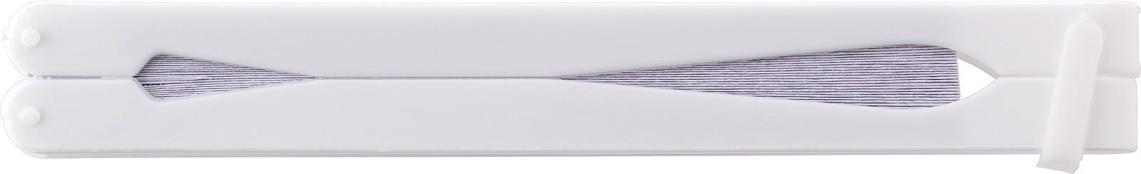 Paper hand held fan - White