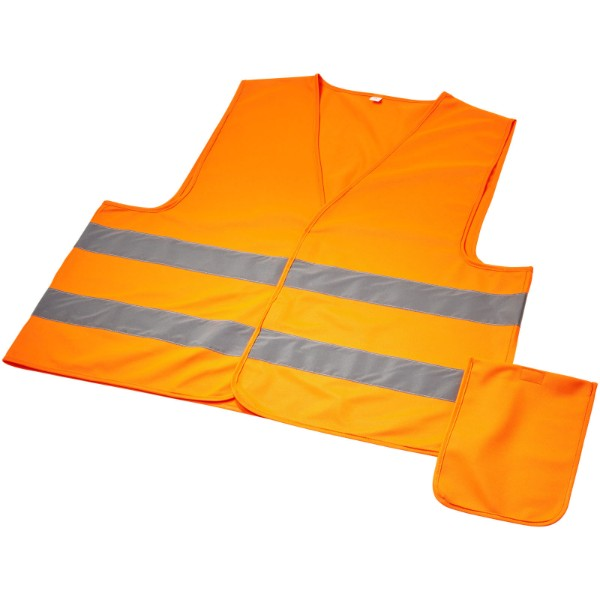 Watch-out XL safety vest in pouch for professional use - Neon Orange