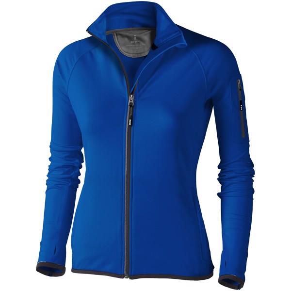 Dámská bunda Mani z materiálu power fleece se zipem v celé délce - Modrá / XL