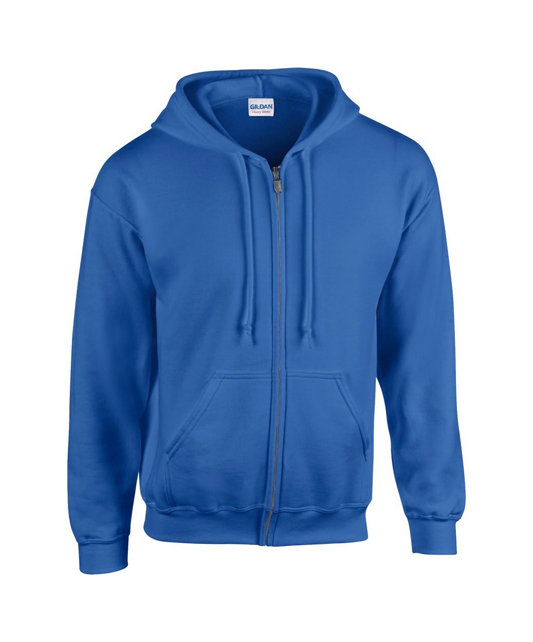 Mikina HB Zip Hooded - Modrá / L