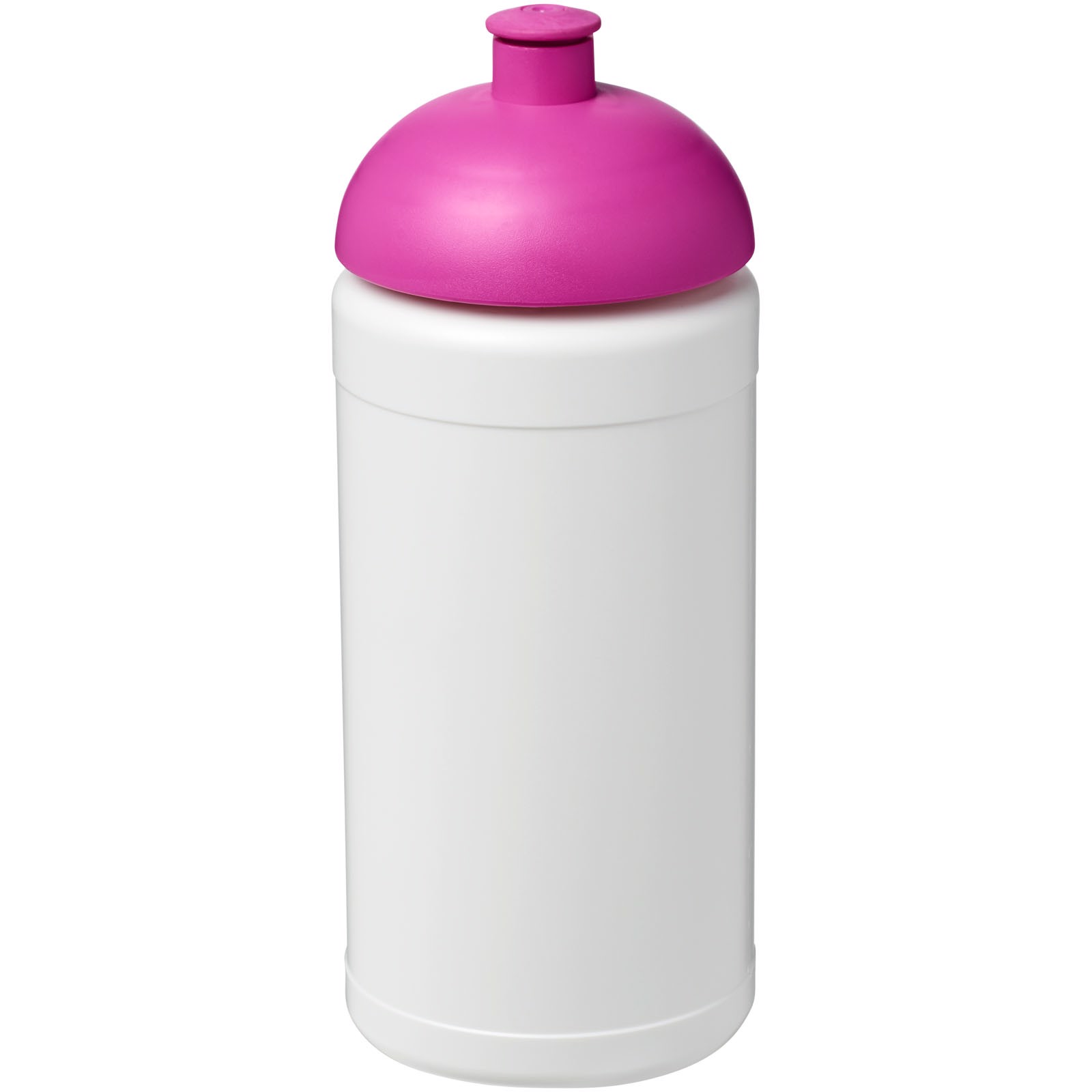 Sportovní láhev s kupolovitým víčkem Baseline® Plus 500 ml - Bílá / Růžová