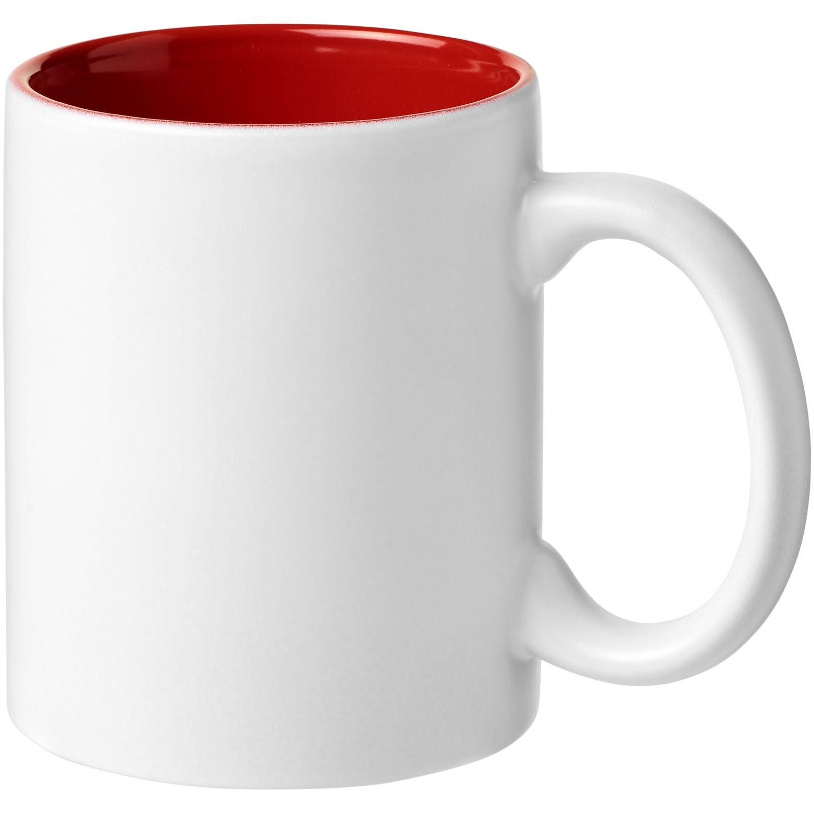 Keramický hrnek Taika 360 ml - Červená s efektem námrazy