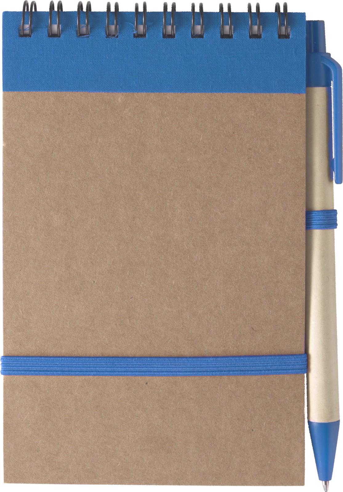 Cardboard notebook - Light Blue