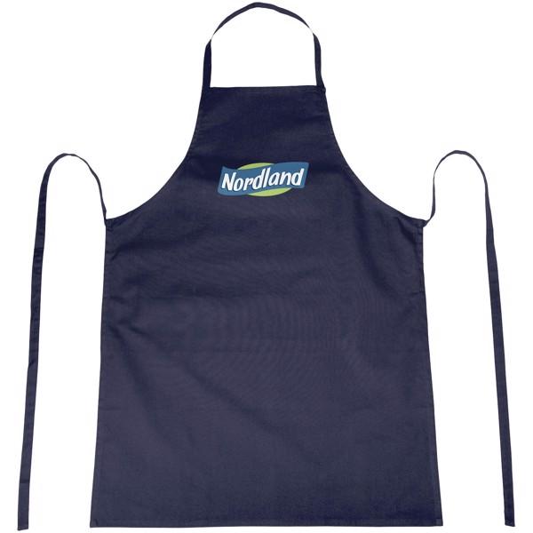 Reeva 100% cotton apron with tie-back closure - Navy