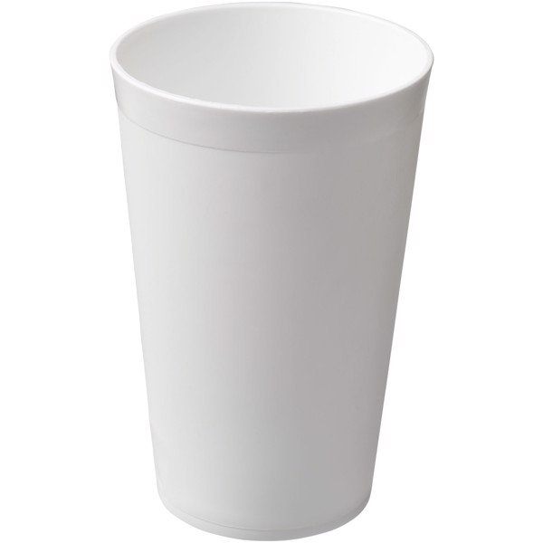 Vaso de plástico de 300 ml Drench - Blanco