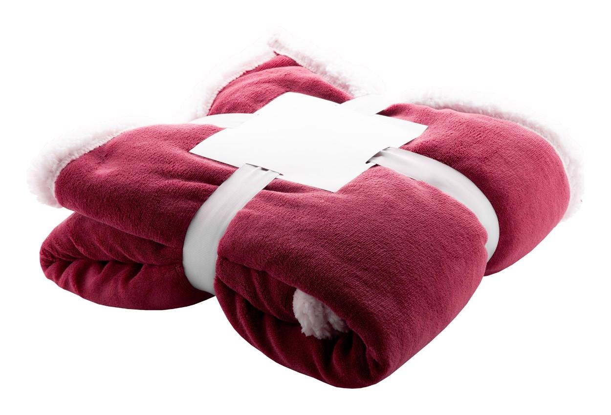 Coral Fleece Blanket Sammia - Claret / White