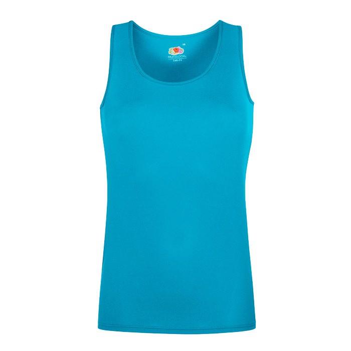 Damen T-Shirt Sport Lady-Fit Vest 61-418-0 - Azure Blue / XS