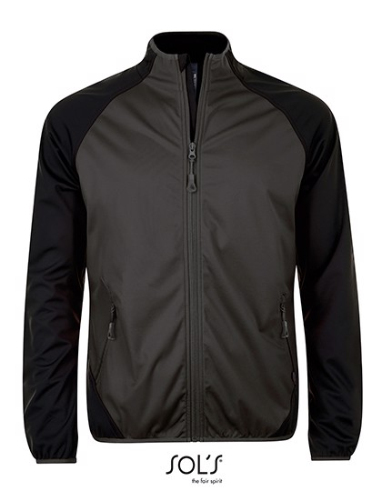 Rollings Men Softshell Jacket - Dark Grey / Black / S