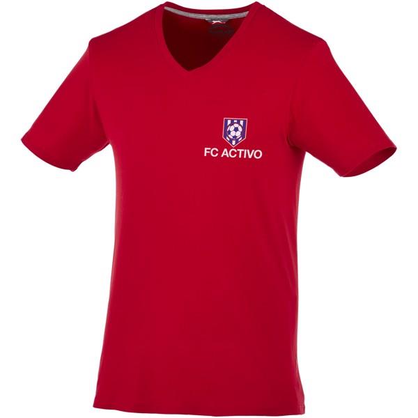 Pánské triko Bosey s véčkovým výstřihem - Tmavě červená / S