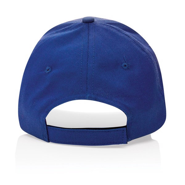 Impact 6 panel 190gr Recycled cotton cap with AWARE™ tracer - Blue