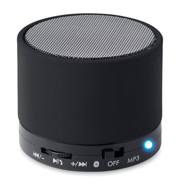 Round wireless speaker Round Bass - Black