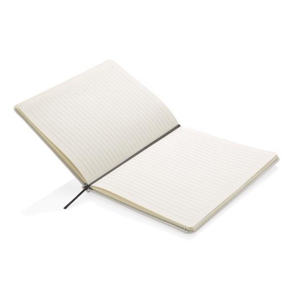 A5-ös keményfedelű PU jegyzetfüzet - Fehér
