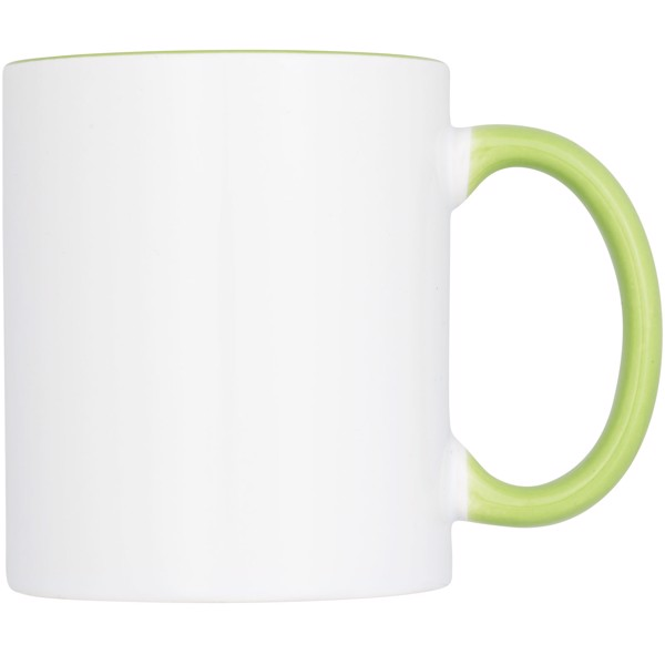 Ceramic sublimation mug 2-pieces gift set - Lime