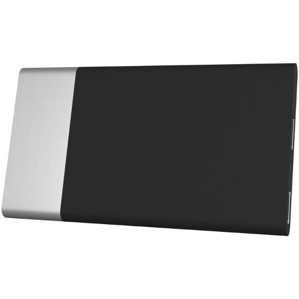 Svítící powerbanka SCX.design P20 5000 mAh - Stříbrný / Modrá